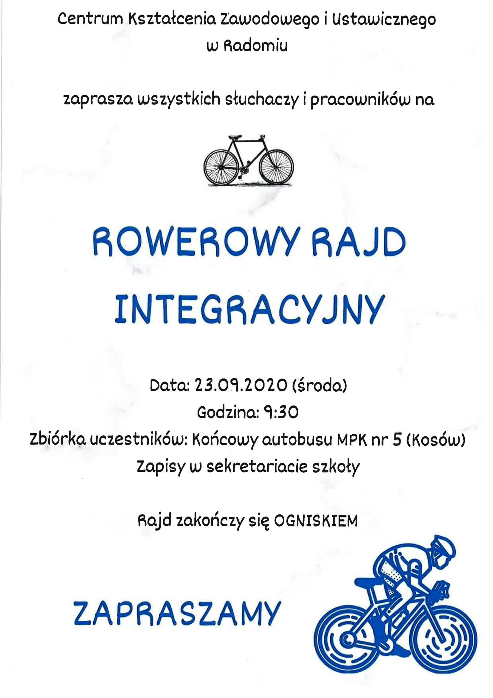 Rowerowy Rajd Integracyjny 2020