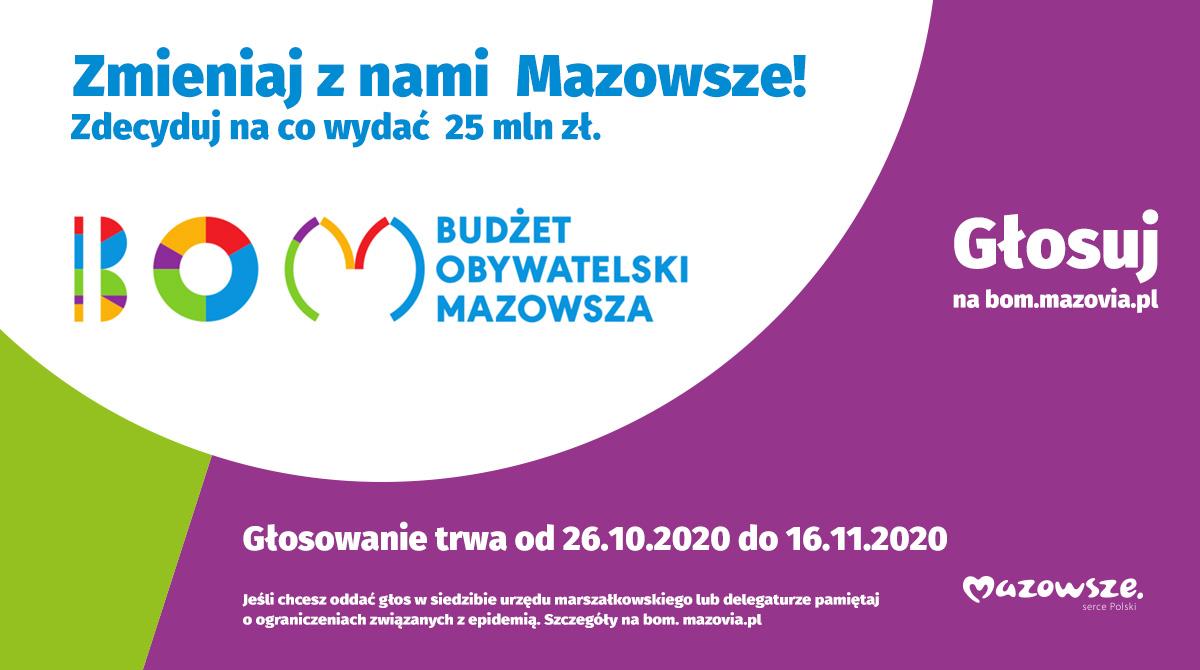 Cztery proste kroki aby zagłosować naBudżet Obywatelski Mazowsza